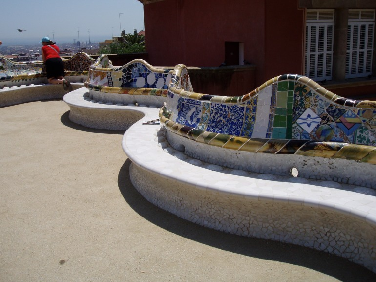 Serpentine bench, Parc Guell, Barcelona